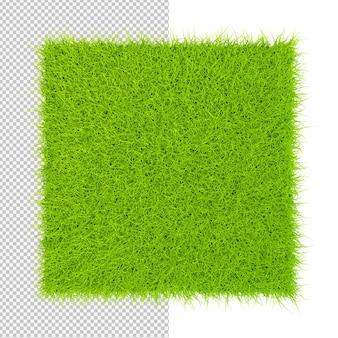 Zielona trawa kwadrat dywan na białym tle ilustracja