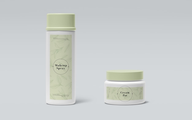 Zielone opakowania produktów kosmetycznych