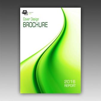 Zielony broszura szablonu