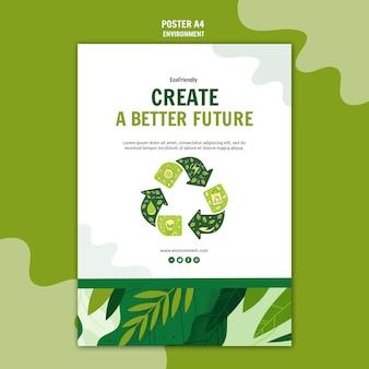 Zielony ekologiczny plakat