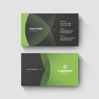 Zielony szablon wizytówki