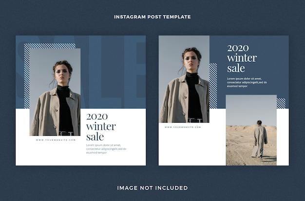 Zimowa wyprzedaż 2020 minimalny zestaw szablonów postów w mediach społecznościowych