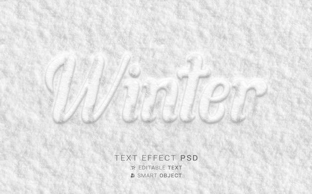 Zimowy projekt efektu tekstu
