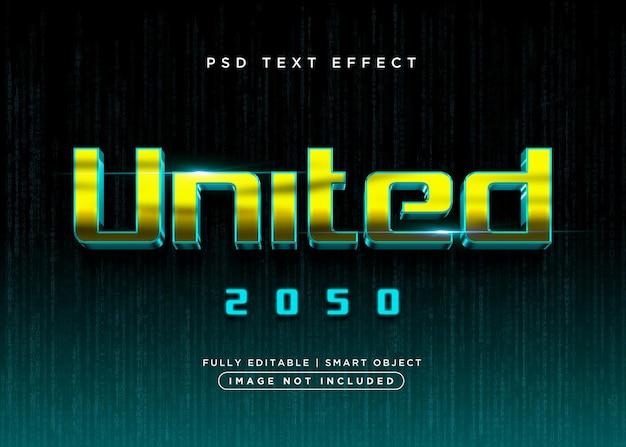 Zjednoczony efekt tekstowy w stylu 3d