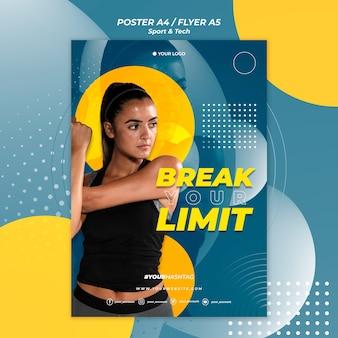 Złam szablon plakat dziewczyna limit
