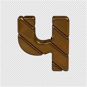 Złota litera rosyjskiego alfabetu renderowania 3d