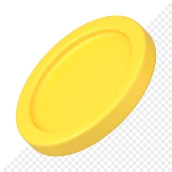 Złota moneta ikona 3d
