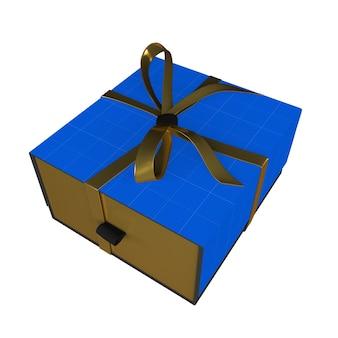 Złote i ciemne pudełko upominkowe