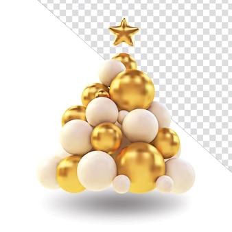 Złote Kule I Gwiazdki Z Elementem świątecznym Premium Psd
