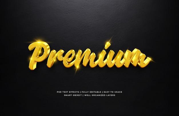 Złoto premium 3d efekt stylu tekstu