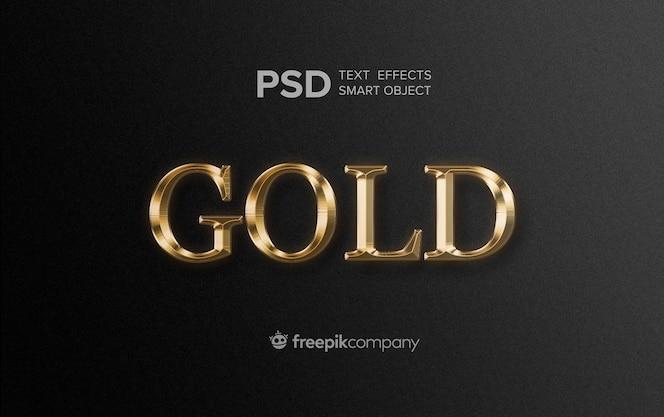 Złoty efekt tekstowy na ciemnym tle