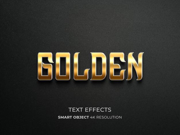Złoty efekt tekstowy z ciemnym tłem