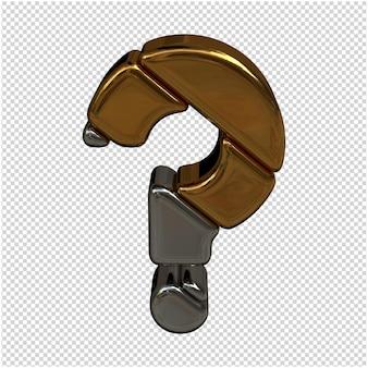 Złoty I Srebrny Symbol Renderowania 3d Premium Psd
