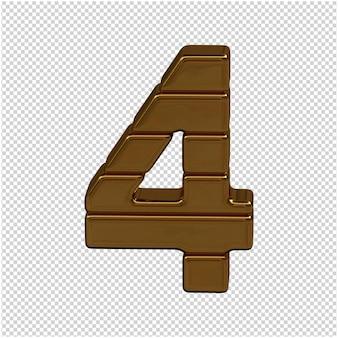 Złoty numer złota renderowania 3d