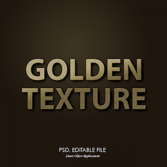 Złoty tekst tekstury efekt 3d