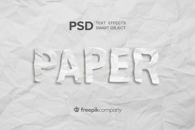 Zmięty papier z efektem tekstu