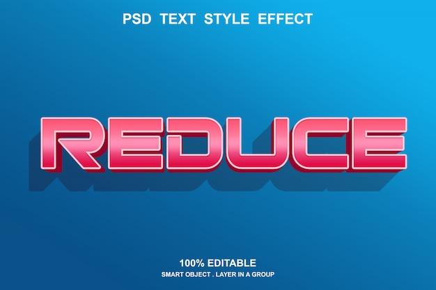 Zmniejsz efekt stylu tekstu