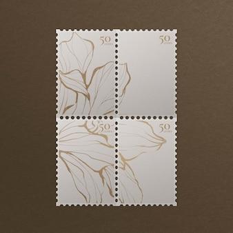 Znaczki pocztowe w stylu vintage