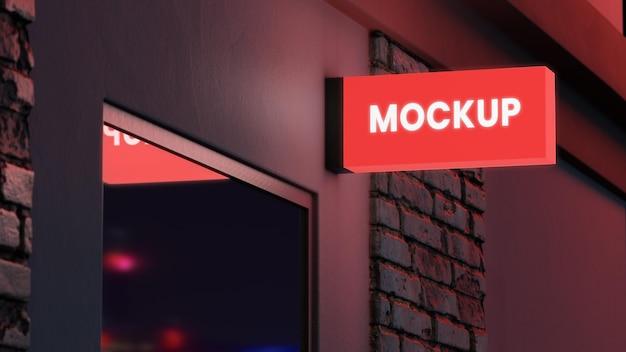 Znak biznes nocny kolor czerwony