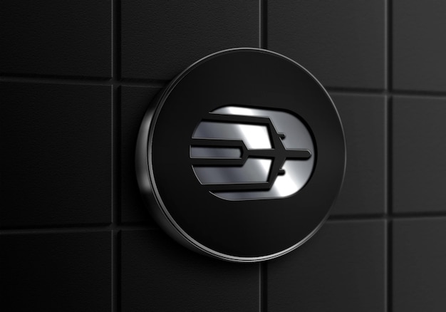 Znak ścienny czarna srebrna ramka logo makieta