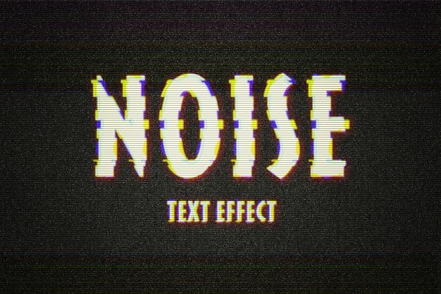 Zniekształcony efekt tekstowy usterki