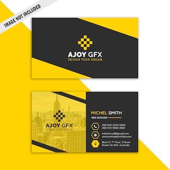 Żółta korporacyjna wizytówka