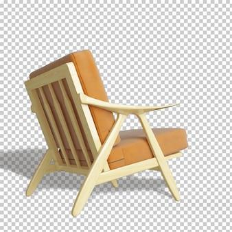 Żółty fotel makieta renderowania 3d