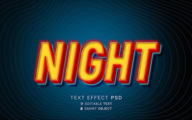 Żółty i czerwony neon z efektem tekstu