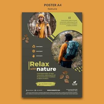 Zrelaksuj się w naturze plakatu