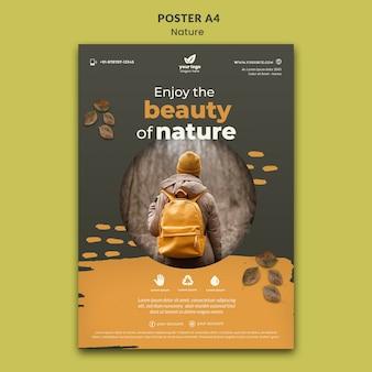 Zrelaksuj się w szablonie plakatu natury