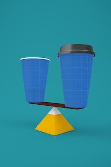 Zrównoważona filiżanka kawy