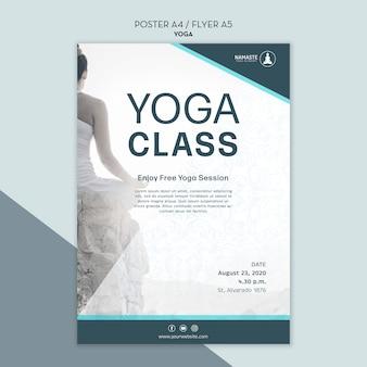 Zrównoważyć szablon plakatu klasy jogi życia