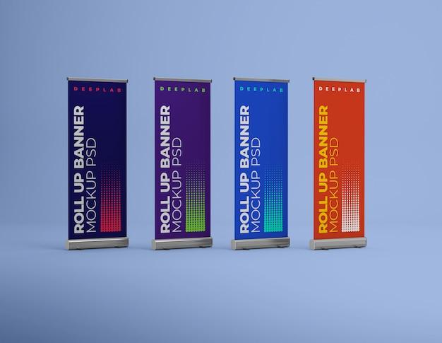 Zwiń baner z makietą kolorów