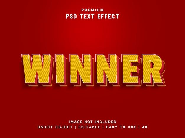 Zwycięzca edytora efektów tekstowych