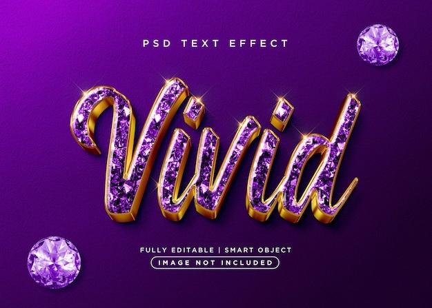Żywy efekt tekstowy w stylu 3d