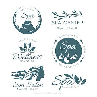 Ładne szablony logotypów spa