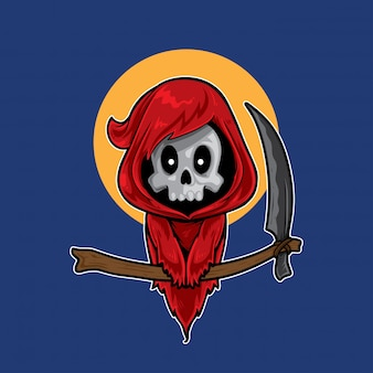 Ładny czerwony kostucha