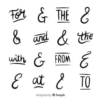 Łupiny i kolekcja ampersand