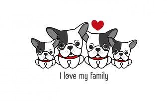Śliczna szczęśliwa rodzina pies mówi