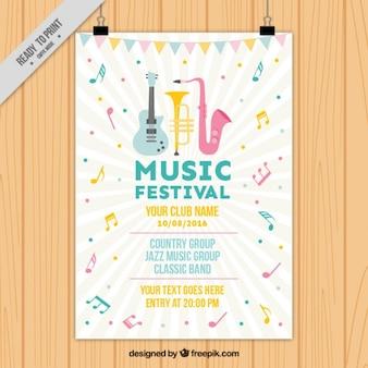 Śliczne festiwal muzyczny plakat