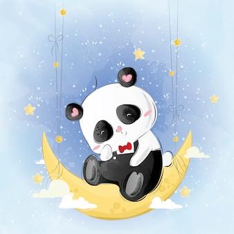 Śliczny pan Pando na Księżycu
