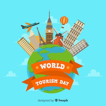 Światowy dzień turystyki tło
