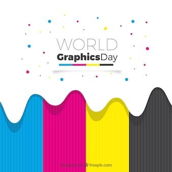 Światowy grafika dnia tło z kolorami