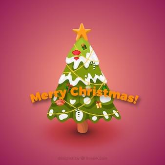 śnieg Christmas Card