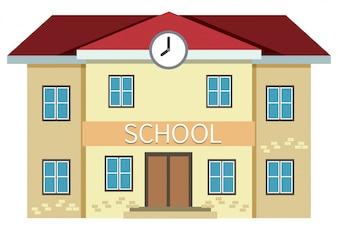 Żółty budynek szkolny