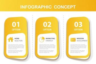 żółta infografika prezentacji