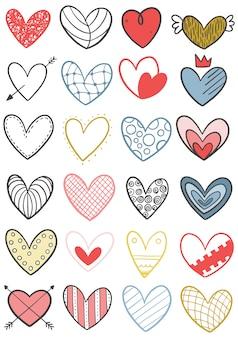 0031 ręcznie rysowane kulas serca