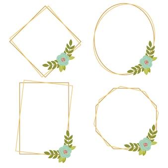 016-vintage ślubne geometryczne ramki kwiatowe kolekcje