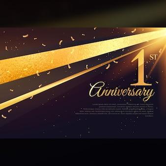 1. rocznica uroczystość karty szablonu