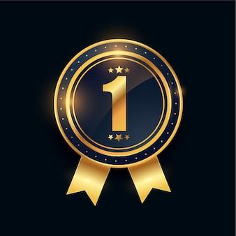 1. zwycięzca złoty medal osiągnięcie numer jeden